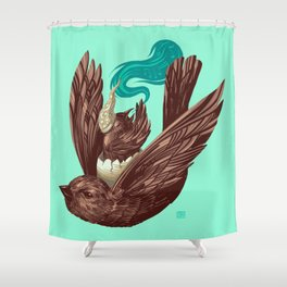 Whiny Evening Vespers While Driving the Sparrow Express (5 word v11) Shower Curtain