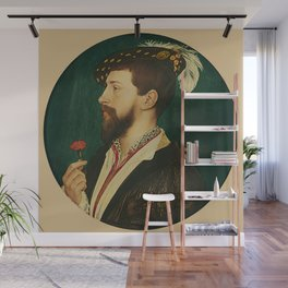 """Hans Holbein the Younger """"Portrait of Simon George of Cornwall"""" Wall Mural"""