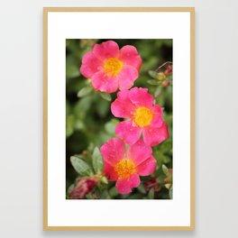Neon Flowers Framed Art Print