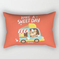 Ice Cream Bear Rectangular Pillow