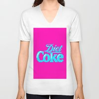 coke V-neck T-shirts featuring COKE >>> 1991 by Mark Mayr