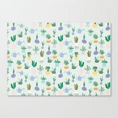 Plant pot Pattern Canvas Print