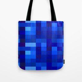 Blue Mosaic Tote Bag