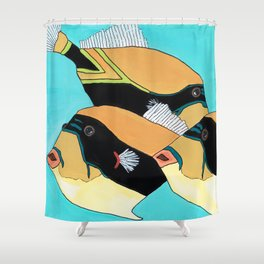 Humuhumunukunukuapua'a - Reef Triggerfish Shower Curtain