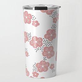 Hello spring Japanese cherry blossom love pink Travel Mug