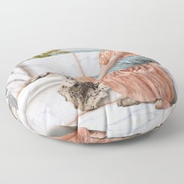 In the Days of Sappho Floor Pillow