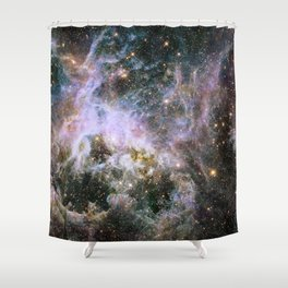 Cosmic Tarantula Nebula (infrared view) Shower Curtain