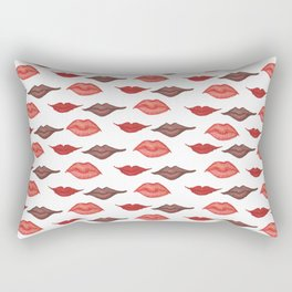 Two Lips, Three Lips, Four Lips Rectangular Pillow