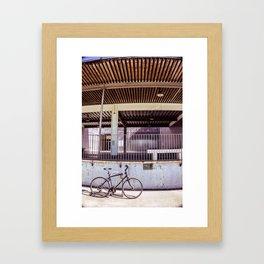 Lone Bicycle Framed Art Print