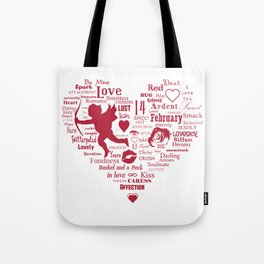 White heart Tote Bag