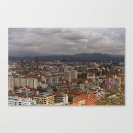 Over The Rooftops of Ljubljana Canvas Print