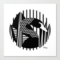 black swan Canvas Prints featuring black swan by Gray