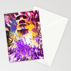 moai in Purple Stationery Cards