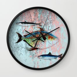 Into the Deep, Ocean Swimming Fish Wall Clock
