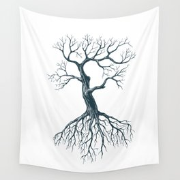 Tree without leaves Wall Tapestry