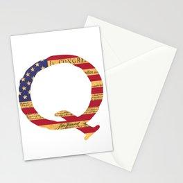 Qanon The Great Awakening MAGA USA WWG1WGA Declaration of Independence Shirt Stationery Cards