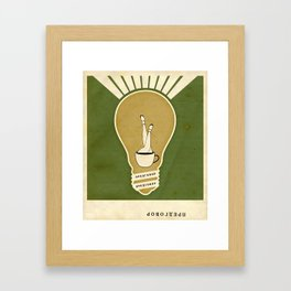 Light and the Coffee Framed Art Print