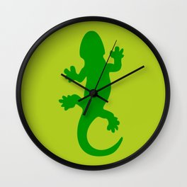 Green Lizard Wall Clock