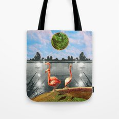 The flamingos Tote Bag