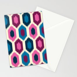 Jewel Tone Ikat Stationery Cards