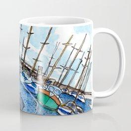 Boats at the Marina Coffee Mug