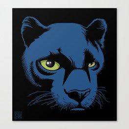 Black Panther Head Canvas Print