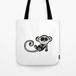 Skeleton monkey Tote Bag