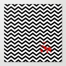 Black Lodge Dreams (Blood On The Red Room Floor) Canvas Print