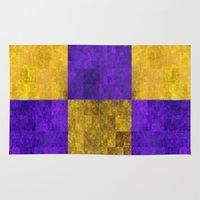 lakers Area & Throw Rugs featuring LA-kers by Ramo