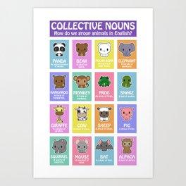 Collective Nouns 01 Art Print