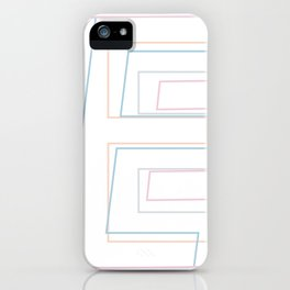 Intertwined Strength and Elegance of the Letter E iPhone Case