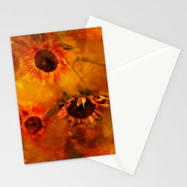 Autumn Playful Sunflowers Stationery Cards