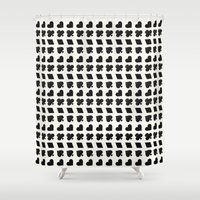 suits Shower Curtains featuring Card Suits Black by •ntpl•