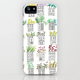 Row House Planters iPhone Case