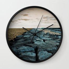 Barnegat Light 2 (jetty) Wall Clock