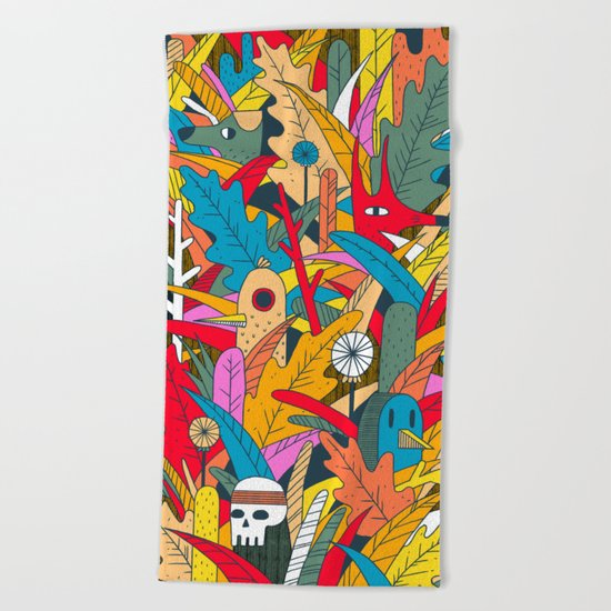 Jungle Party Beach Towel
