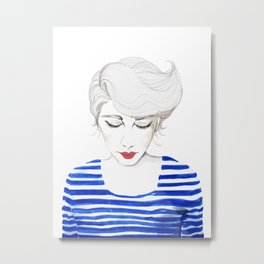 Wow, Stripes! Metal Print