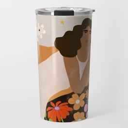 Flower Picnic Travel Mug