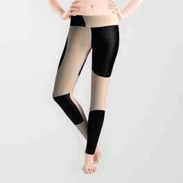 Golden exotics - Cow and soft tangerine Leggings