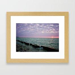 Pink Sky At Night Framed Art Print