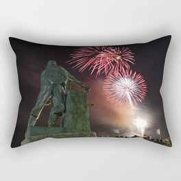 Fourth of July Fireworks in Gloucester Rectangular Pillow