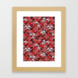Wave Jumpers (Red) Framed Art Print