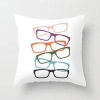 frames Throw Pillows featuring Stacking Frames by Tavia Lawrence