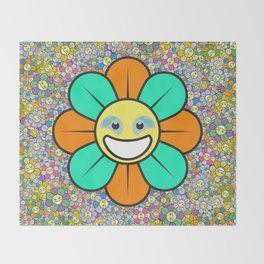 SUPER FLOWER POWER Throw Blanket