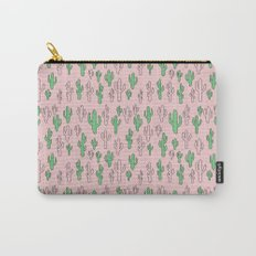 Cactus on Pink Carry-All Pouch