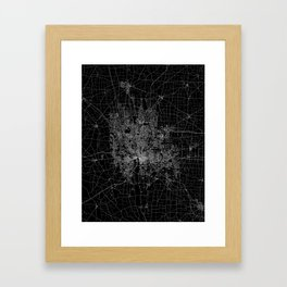 Columbus map ohio Framed Art Print
