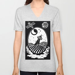 UFO Farm Sighting Invert Unisex V-Neck