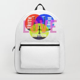 Bohemian Ideals - Typogrpaphy - Photograpy mixed media digital art Backpack