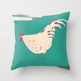 Cockerel Throw Pillow