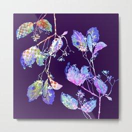 luminous branch on violet Metal Print